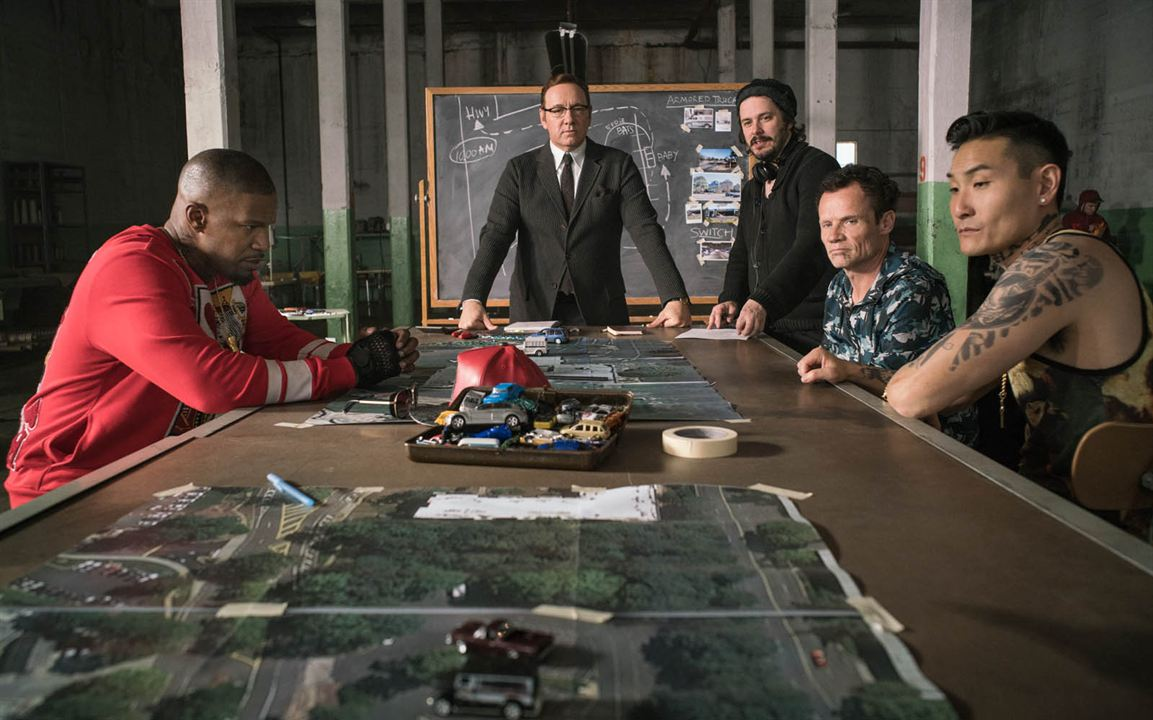 Baby Driver : Foto Edgar Wright, Jamie Foxx, Kevin Spacey