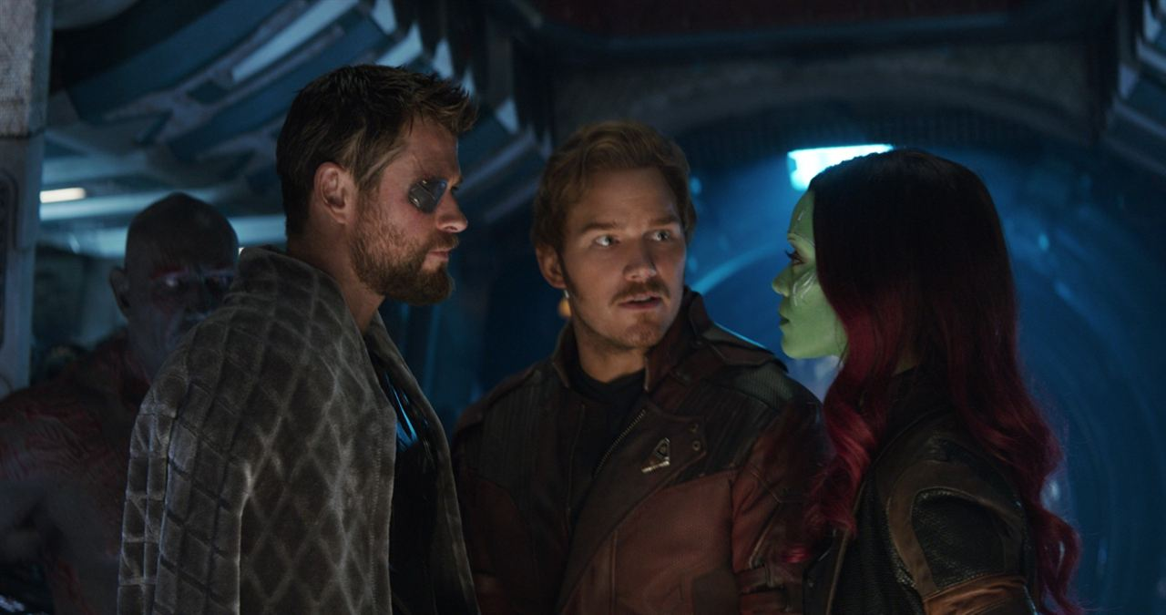 Vengadores: Infinity War : Foto Chris Hemsworth, Chris Pratt, Zoe Saldana
