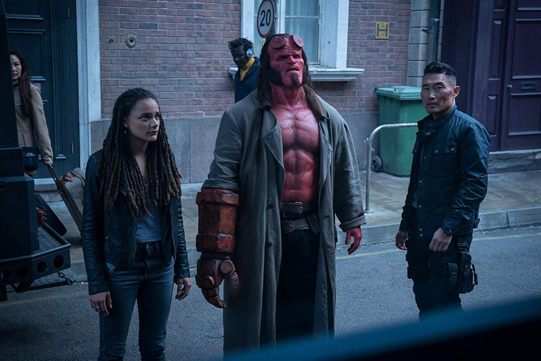Hellboy : Foto Daniel Dae Kim, David Harbour, Sasha Lane