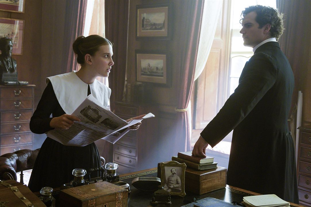 Enola Holmes : Foto Henry Cavill, Millie Bobby Brown